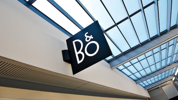Aktiestatus: B&O styrtdykker - Novo Nordisk styrker eliteindekset