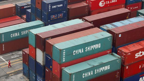 Handelskonflikt reducerer Kinas eksport af containere til USA