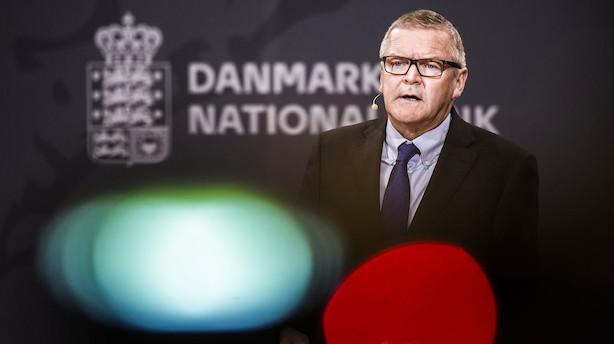 Nationalbanken: 30 pct. risiko for at Danmark bliver ramt af recession inden for et år