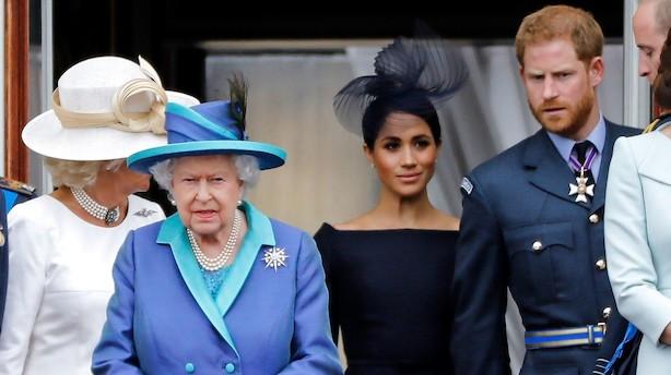 Medie: Dronningen rammer Harry og Meghan med jernnæven