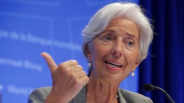 IMF-chef advarer om trusler mod global vækst