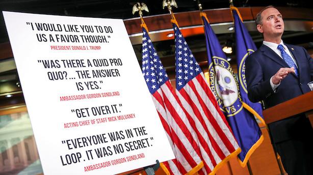 Rapport fra Kongressen fastslår at Trump misbrugte magten