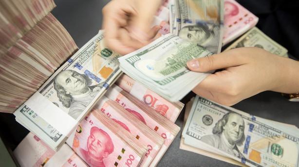USA anser ikke længere Kina for at være valutamanipulator