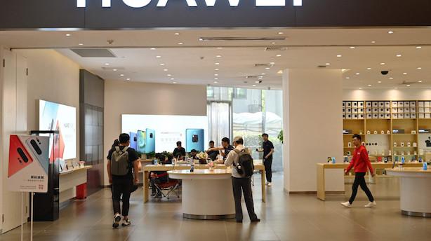 Sortlistet af USA: Alligevel præsenterer Huawei vild vækst