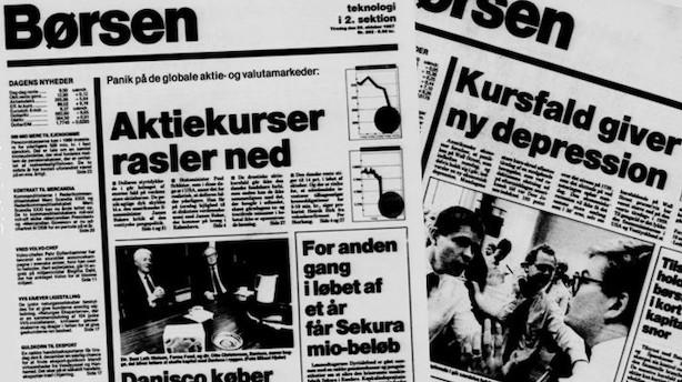 Ti finansmænd om Sorte mandag i 1987: Det var et wakeup-call