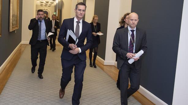Jarlov afviser at hvidvasksag bliver en trussel for dansk økonomi