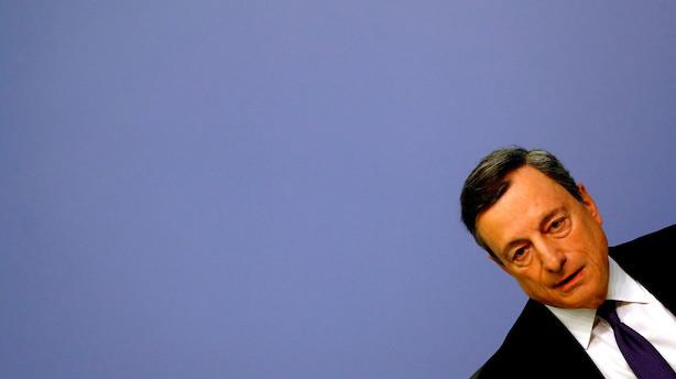 ECB afslutter opkøbene til nytår: Seddelpressen skal sættes i stå
