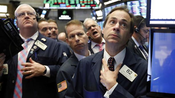 USA: Blodet er begyndt at flyde på Wall Street