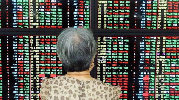 Aktier: Vækstfrygt giver kursfald i Asien uden for Japan