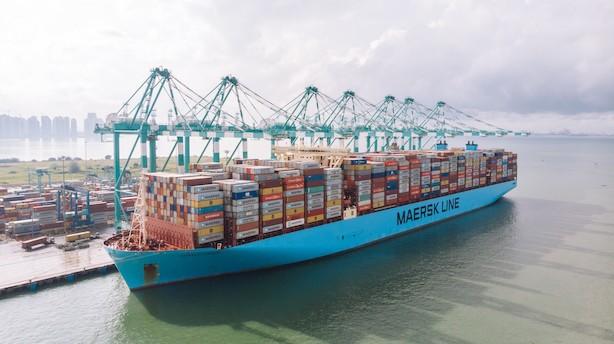 Mærsk tager sin verdensrekord tilbage: Så mange kasser kan man stable på ét skib