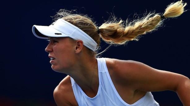 Wozniacki om første sejr over etter: Regn bringer mig held