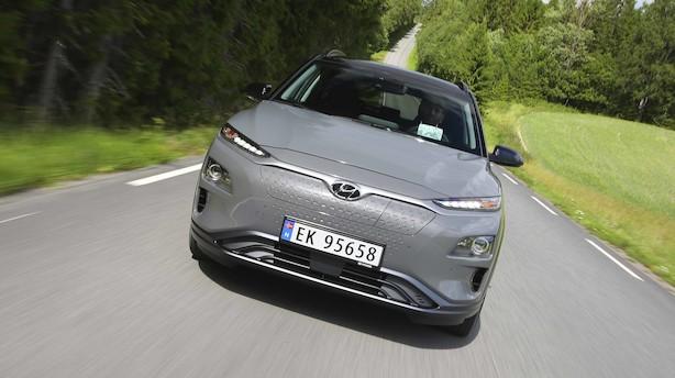 Eldrevet Hyundai kører op mod 500 km på en opladning