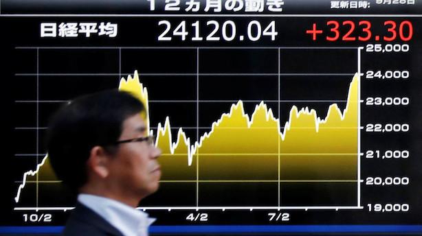 Aktier: Tokyo i spids fra start