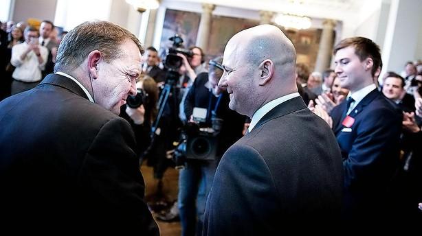 Kun Pape og Løkke taler videre i statsministeriet