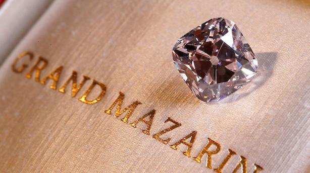 Kæmpediamant solgt for 212 mio kr på auktion