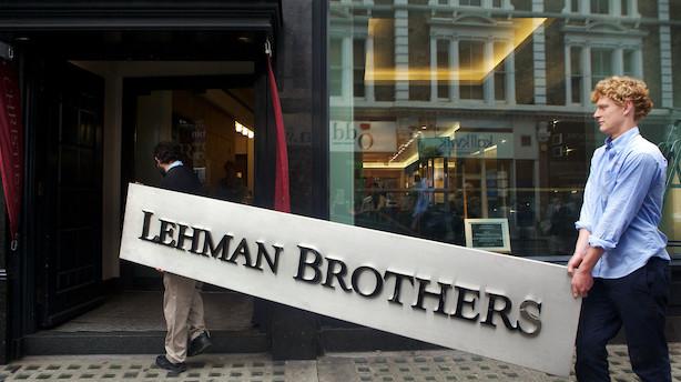 """Ti bankchefer tænker ti år tilbage på dagen for Lehmans krak: """"En begivenhed som ingen havde ventet"""""""