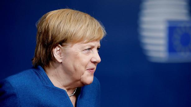 Merkel: Brexit-forlængelse er uundgåelig, hvis Underhuset stemmer nej til aftalen