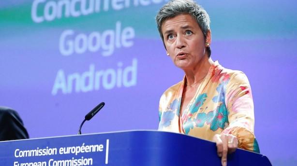 Vestager udsteder gigantbøde til Google