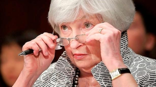 Nye møgtal i USA giver Yellen hovedbrud - og udskyder rentehug