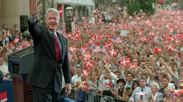 Bill Clinton taler for 3000 ledere ved træf i København
