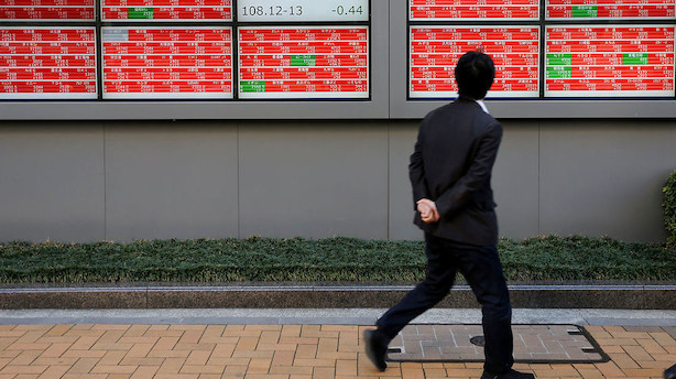 Aktier: Frygten for økonomien er trukket med over Stillehavet