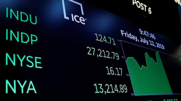 Aktieluk i USA: De tre ledende indeks sluttede i rekord før regnskabssæson