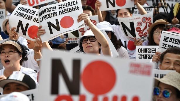 Sydkorea fjerner Japans særstatus