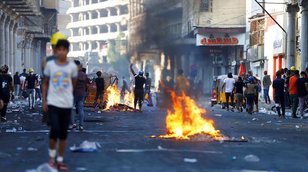 USA vil have valg i Irak og stop for vold mod demonstranter