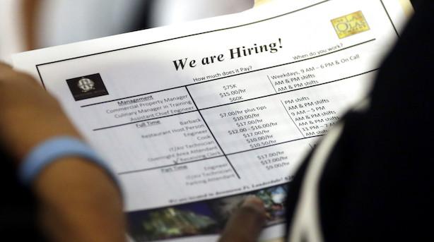 Ups: Amerikansk kongetal skuffer - der blev skabt 155.000 job i november