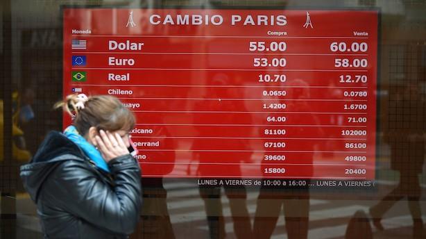 Hårde hug til argentiske aktier, obligationer og pesoen