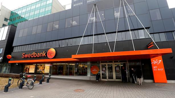 Swedbank leverer bedre resultat i ventet i kvartal der overskygges af hvidvask