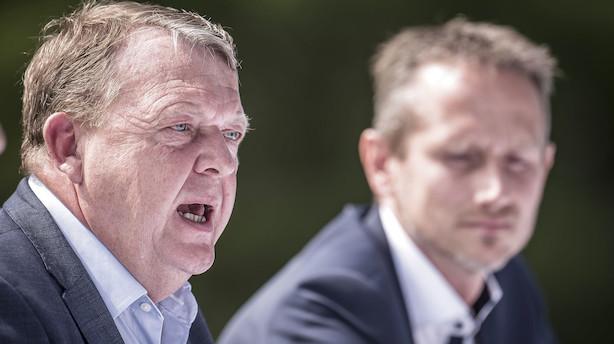 """Løkke svarer igen på blå kritik: """"VK-alliance er rygraden i det borgerlige-liberale Danmark"""""""
