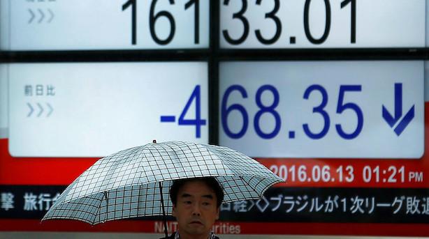 Aktier: Røde markeder i Asien næsten over alt