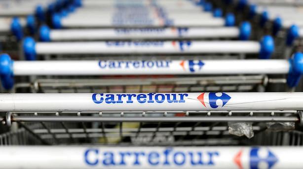 Rygter om Amazon-interesse sender fransk supermarkedskæde op