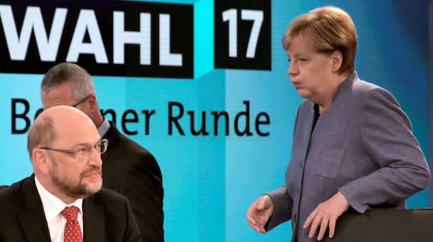 Børsen mener: Tysk jordskredsvalg - Det er Angela Merkel eller kaos