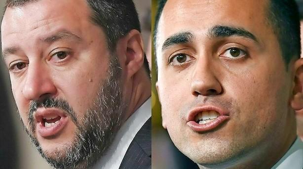 """Ny idé-skitse fra italienske regeringsbejlere: """"Italien vil kollapse i løbet af meget kort tid"""""""