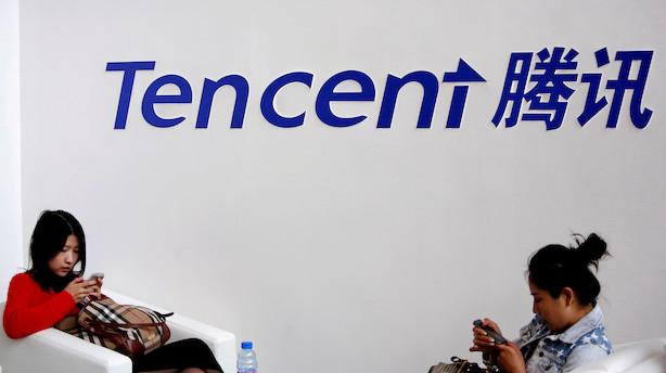 Tencent Music sætter børsnotering på pause efter aktieuro