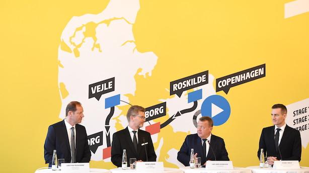 """Tour de France på danske veje koster 88 mio. kr.: """"Den økonomiske værdi for Danmark er mange gange mere end det beløb, vi skal betale"""""""
