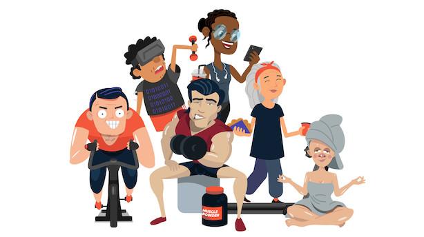 Nytårstrængsel i fitnesscenteret: Sådan ser dine kollegaer ud