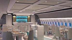Privat Boeing 777 bliver en flyvende gourmetrestaurant