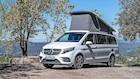 Det firehjulede Mercedes-sommerhus er klar til ferien