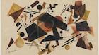 Kubistisk kunstværk sprænger auktionshusets vurdering