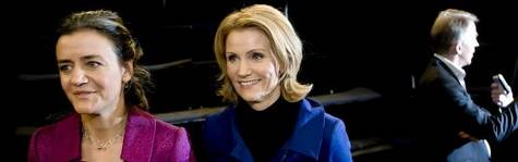 Vestager peger p� Helle Thorning