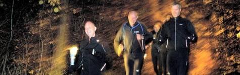 Erhvervsfolk i maraton-gear
