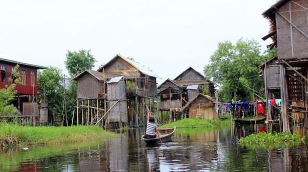 Asiens Venedig er bygget af bambus