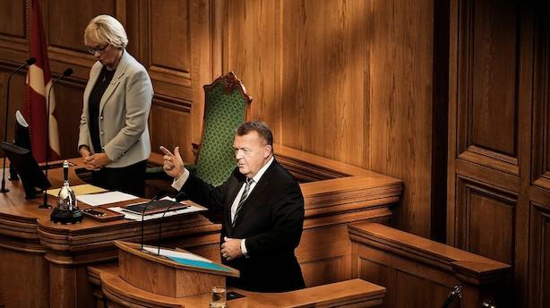 Børsen mener: Stakkels Løkke - han er ikke rigtig statsminister