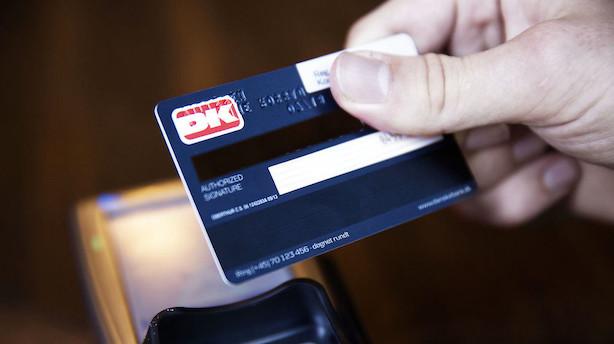 Det kontaktløse dankort vinder markedsandele