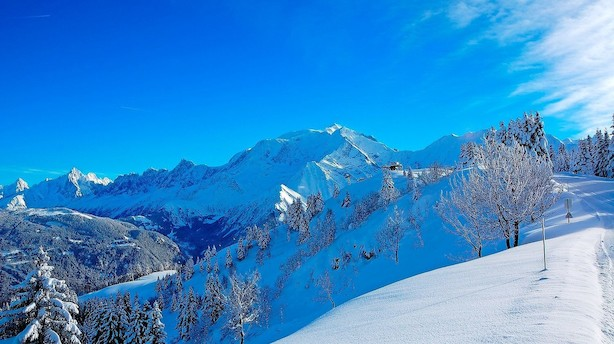 Mont Blancs smørhul er oplagt når familien skal på ski