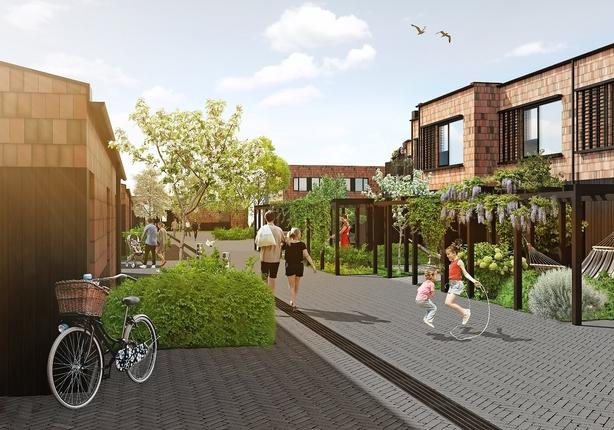 Nu bygges de første boliger i Nærheden