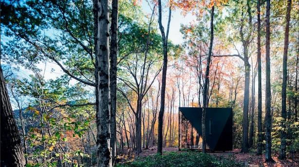 Ny 18 kvadratmeters skovhytte skal overbevise os om, at man lever friere, når man bor mindre